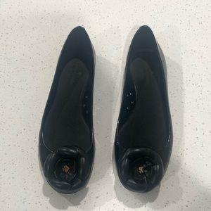 Late Spade ♠️ Flower Black Jelly Ballet Flats 10